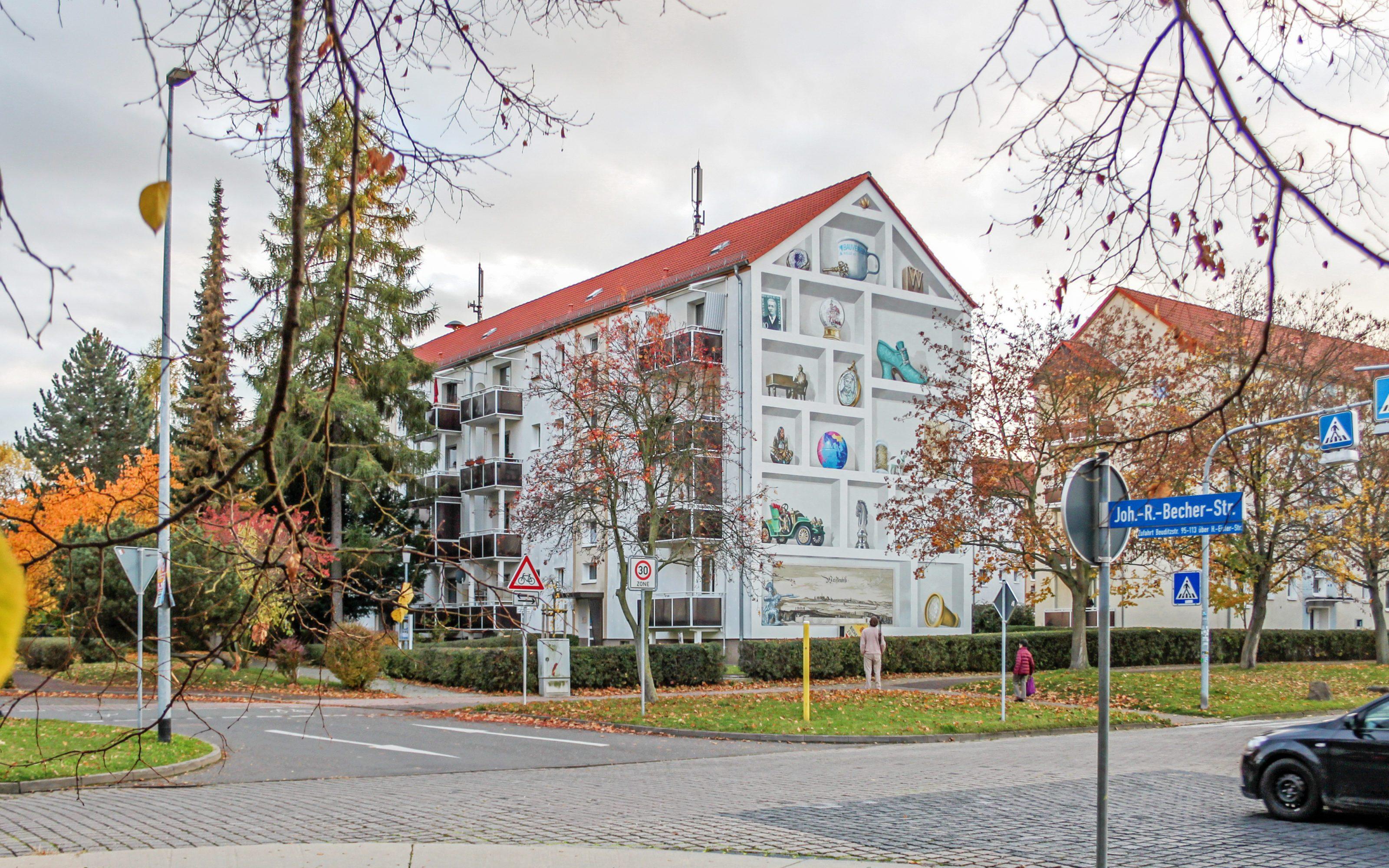 GRACO-Weissenfels-Wandmalerei-Setzkasten-historisch-Becher-Strasse